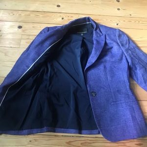 Banana Republic Purple Tweed Blazer